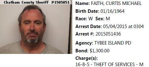 Curtis Michael Faith Arrest